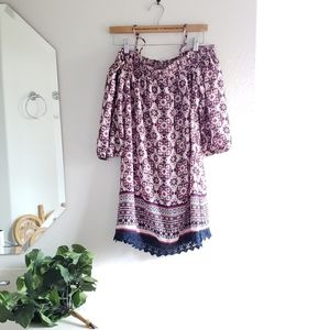 Trixxi Deep Navy and Pink Dress Size Medium